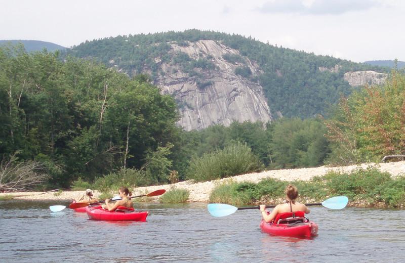 Kayaking near Oxen Yoke Inn.