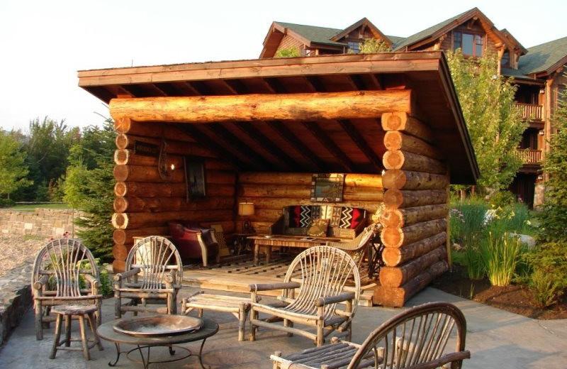 Vacation rental patio at Lake Placid Vacation Homes.