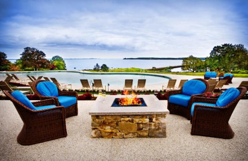 Fireside Seating at The Samoset Resort
