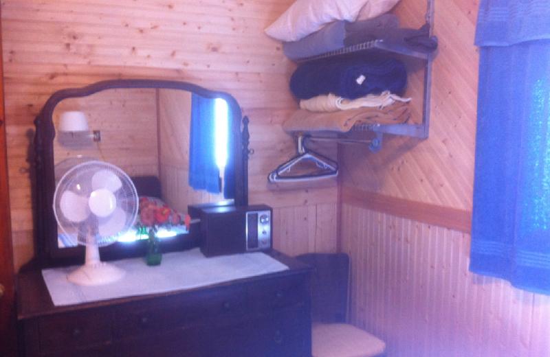 Cabin bedroom at Radtke's Sabinois Point Resort.