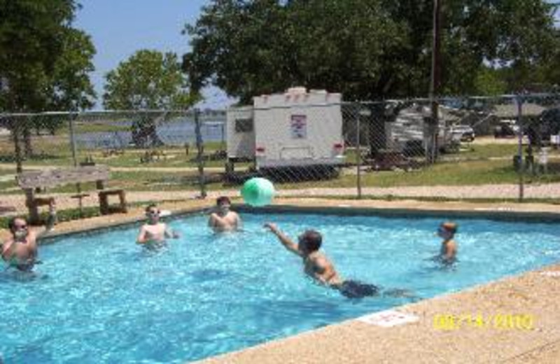 Outdoor pool at The Edgewater Waterfront Cottages & RV Park.