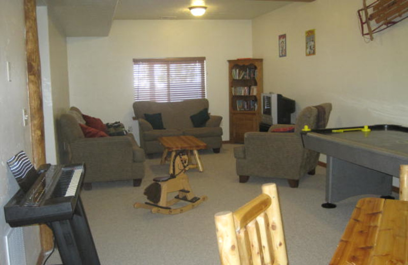 Family room at Lori's Luxury Rentals.