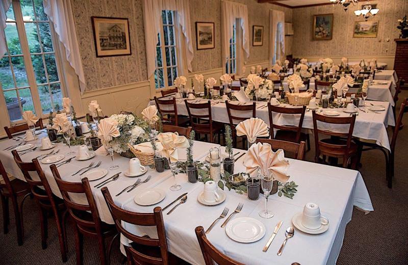 Wedding setup at Winter Clove Inn