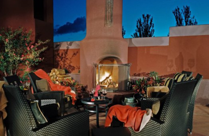 Outdoor lounge area at Sedona Rouge Hotel.
