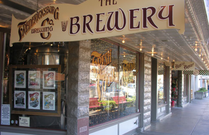 Street view of the brewery at Fredericksburg Bed & Brew.