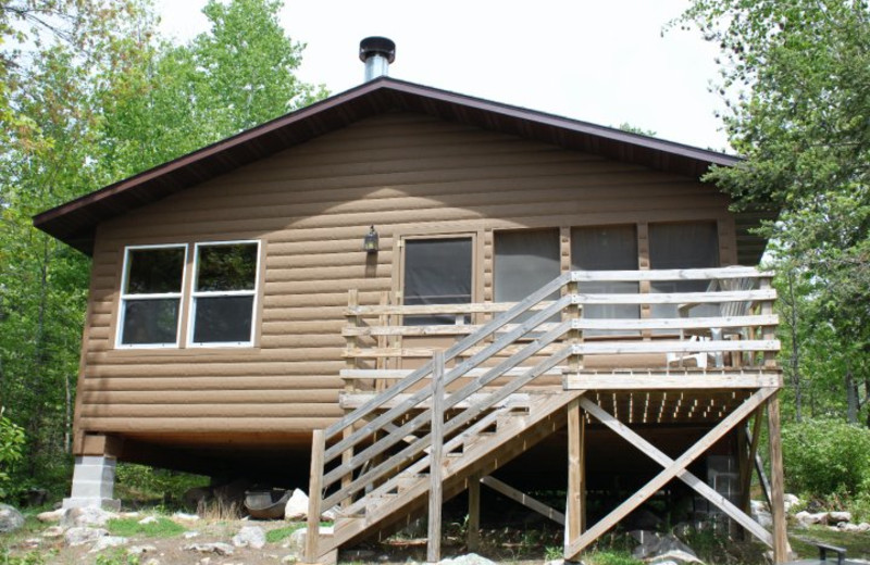 Cabin exterior at Muskego Point Resort.