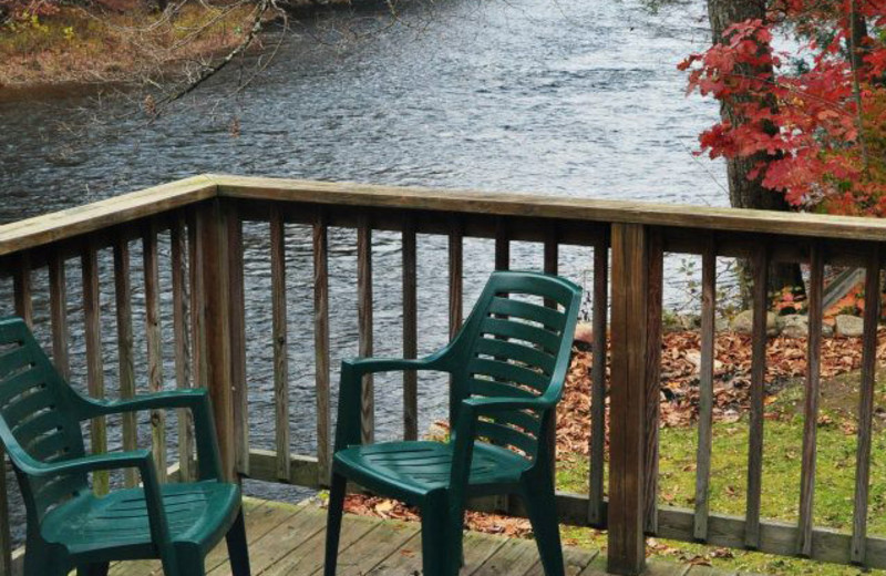 Deck view at Cheat River Lodge.