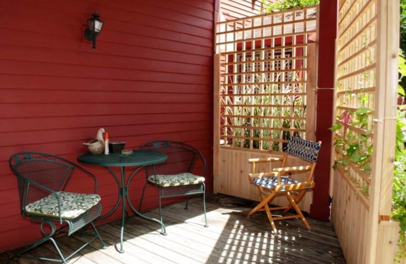 Tanglewood deck at Shaker Mill Inn.