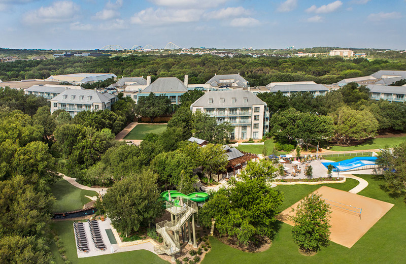 Aerial view of Hyatt Regency Hill Country Resort and Spa.