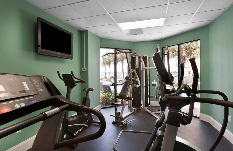 Fitness room at The Strand Resort Myrtle Beach.