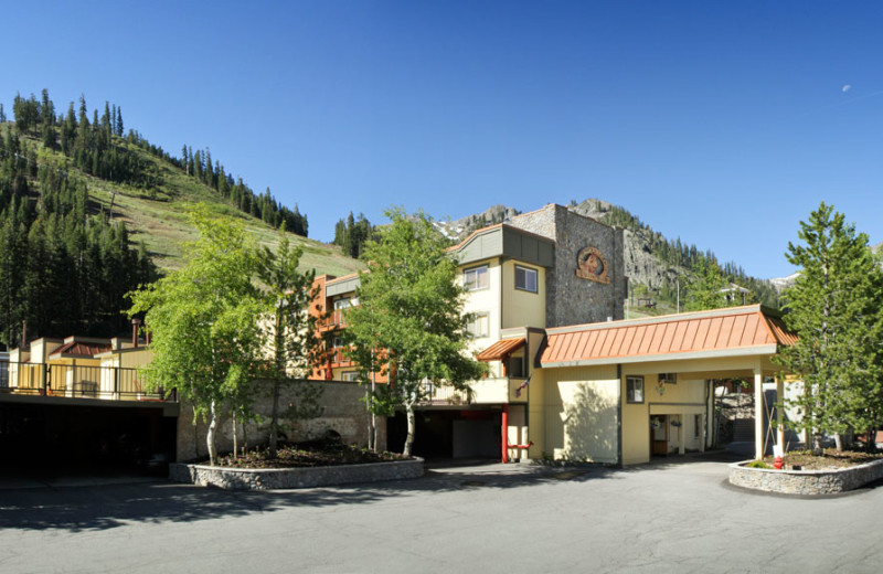 Exterior of Resort in Spring at the Red Wolf Lodge at Squaw Valley