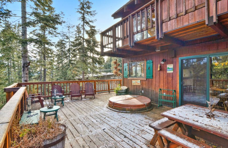 Rental deck at Stay in Lake Tahoe.