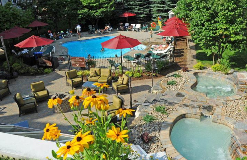 Outdoor pools at Residence Inn Mont Tremblant Manoir Labelle.
