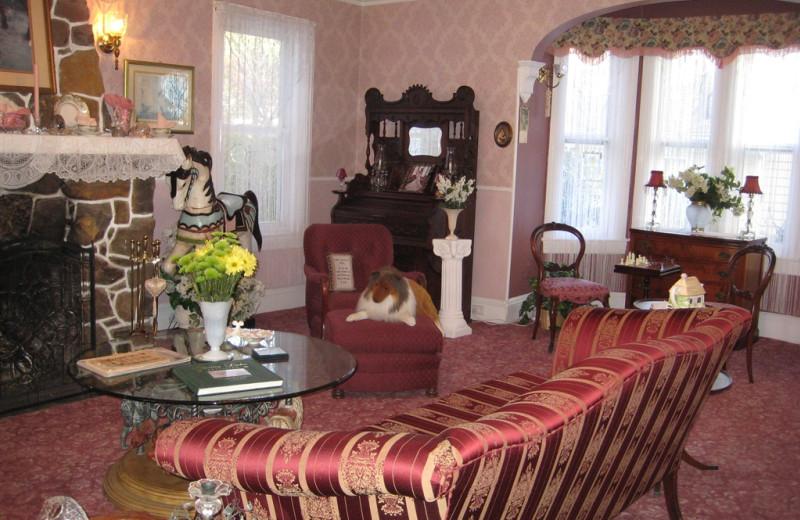 Parlor view at White Lilac Inn.