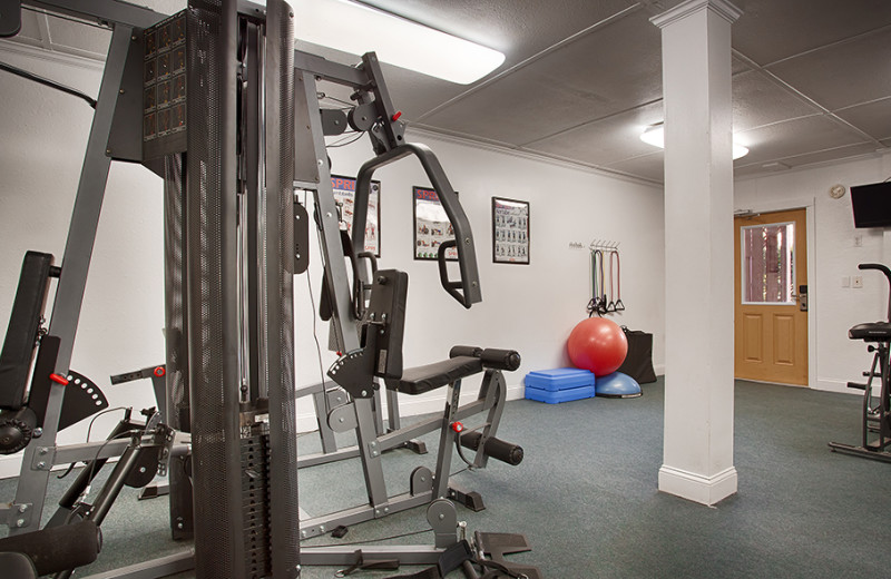 Fitness room at The Winds Resort Beach Club.