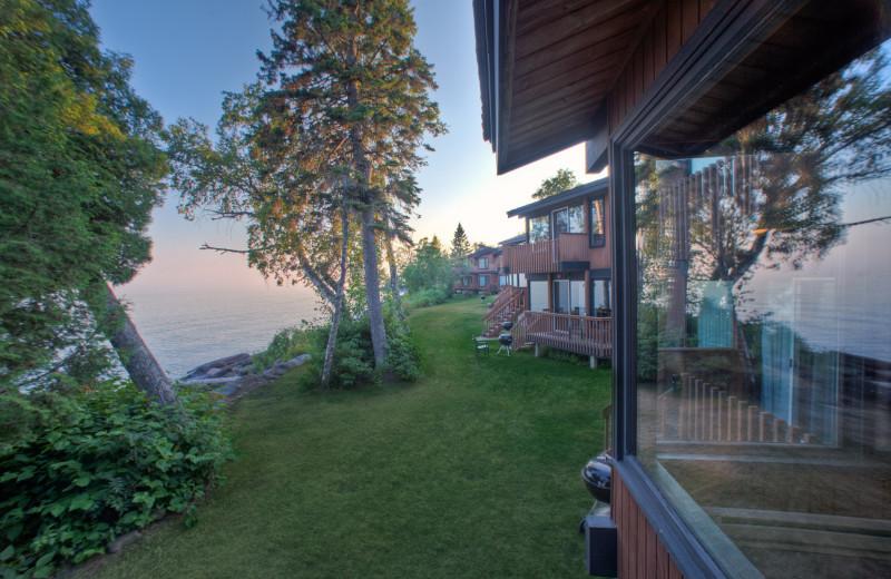 Villa exterior at Lutsen Resort on Lake Superior.