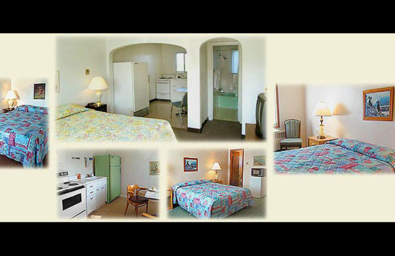 Guest rooms at Sportsmen Motel.