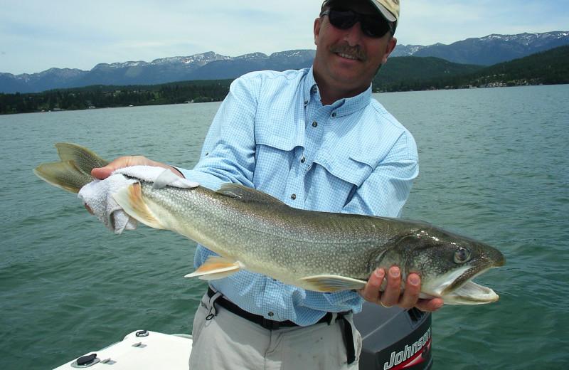 Fishinga t The Lodge at Whitefish Lake.