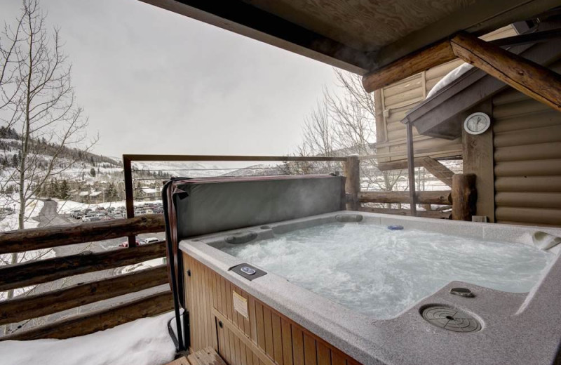 Rental hot tub at Alpine Ski Properties.