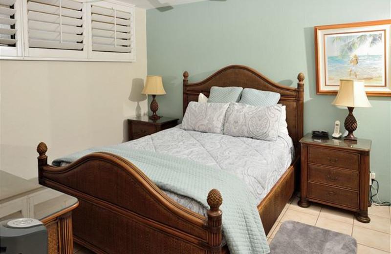 Vacation rental bedroom at Maui Vacation Rentals.
