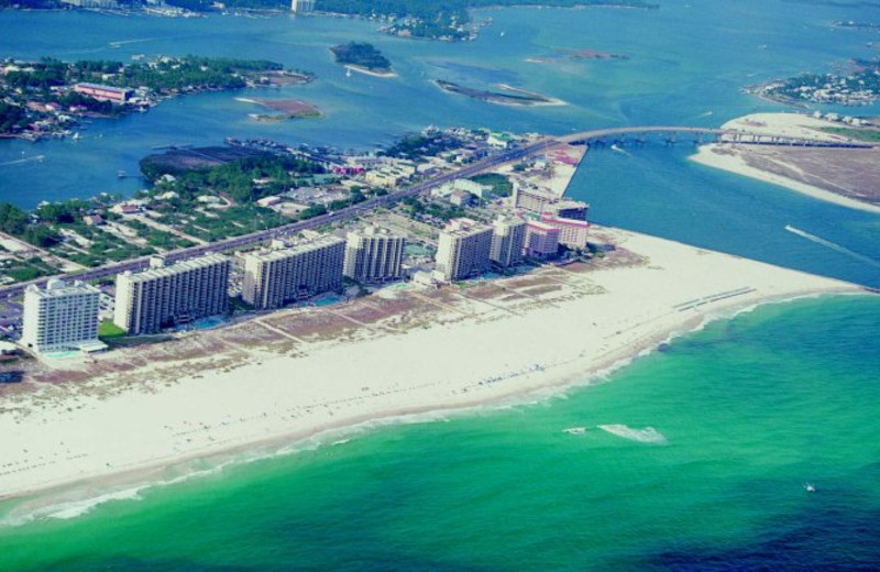 Arial view at Perdido Beach Resort.