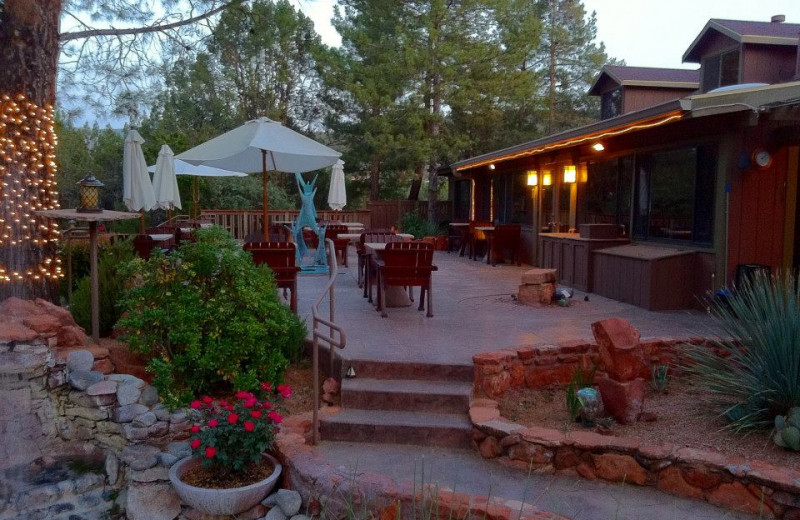 Patio at Lodge At Sedona - A Luxury Bed and Breakfast Inn.