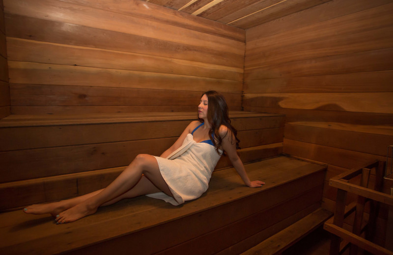 Sauna at Cristiana Guesthaus.