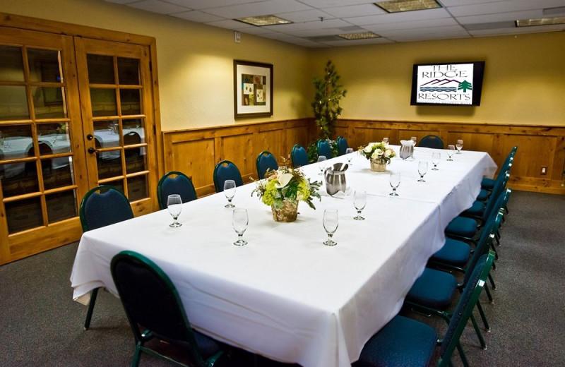 Meeting space at The Ridge Resorts.