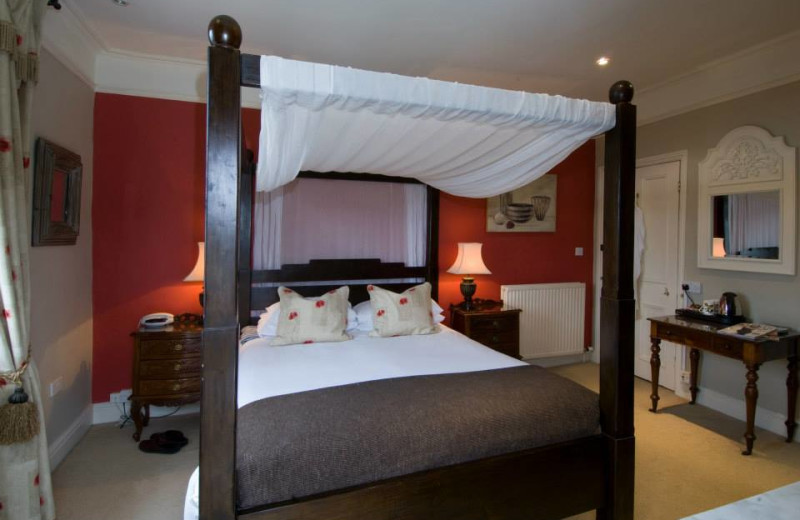 Guest room at Oldfields Hotel.