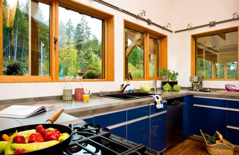 Guest kitchen at Myra Canyon.