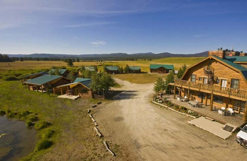 Aerial view of Bar N Ranch.