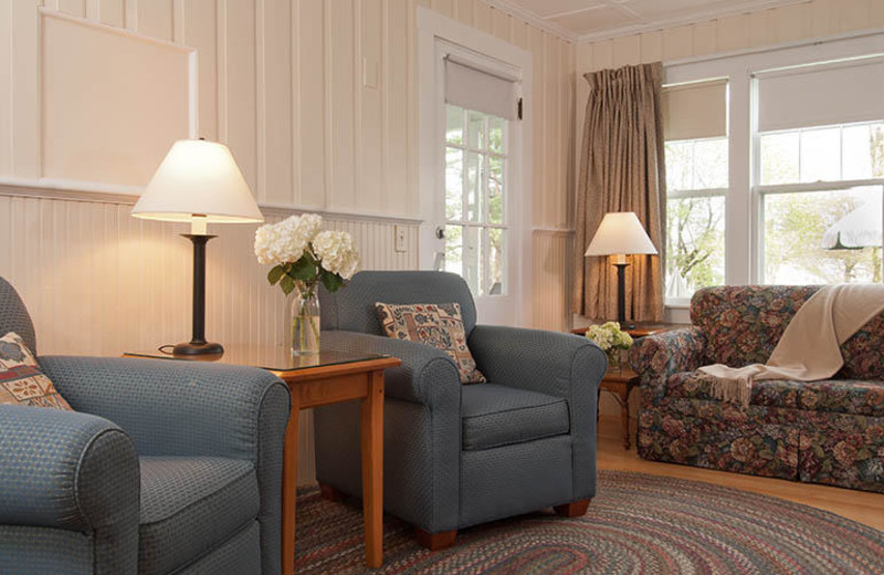 Living room at The Dunes on the Waterfront.