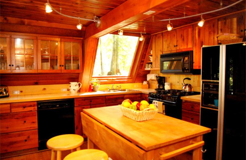 Kitchen view at Three Bears Lodge.