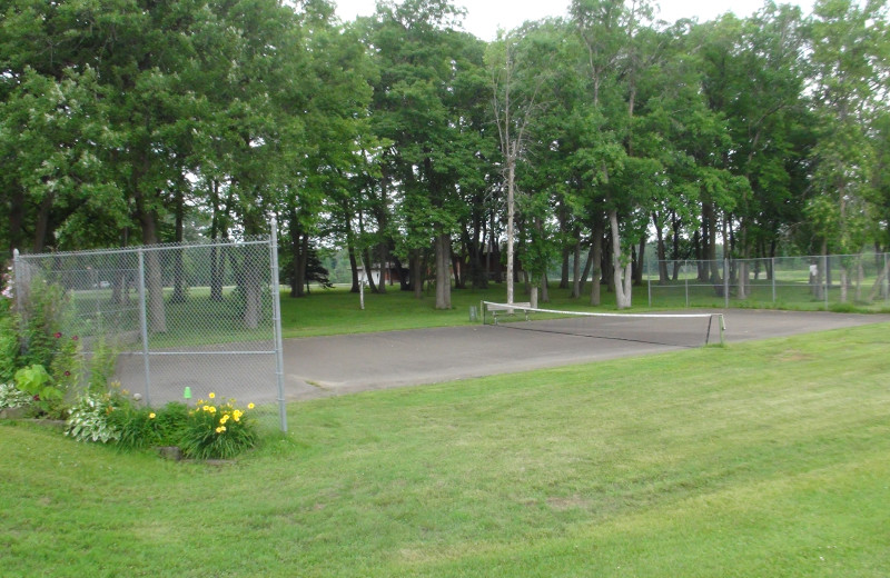 Volleyball court at Gull Lake Resort.