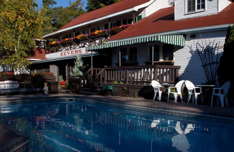 Outdoor pool at Severn Lodge.