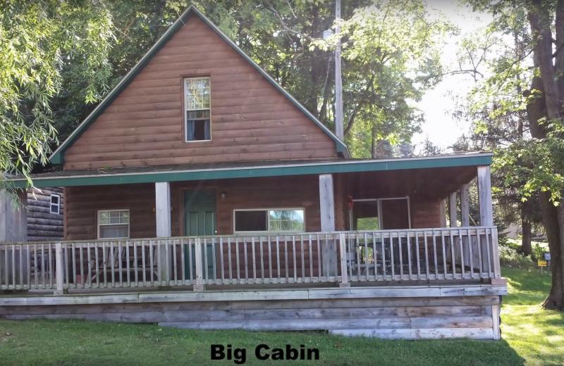 Cabin exterior at Evans Lake Resort.