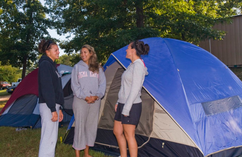 Camping at Eminence Canoes, Cottages & Camp.