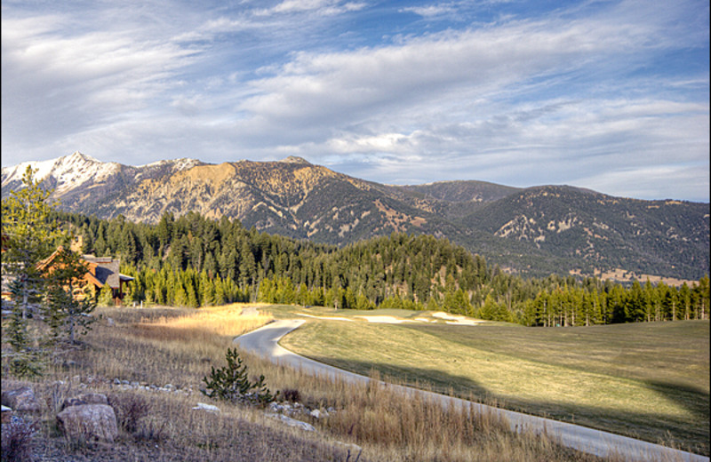 Mountain view at Big Sky Luxury Rentals.