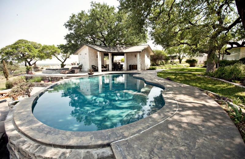Outdoor pool at Paniolo Ranch.