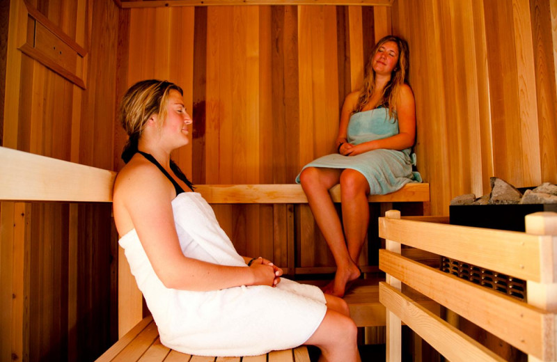 Sauna at Long Beach Lodge Resort.