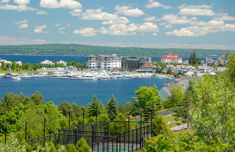 Exterior view of Bay Harbor Resort and Marina.