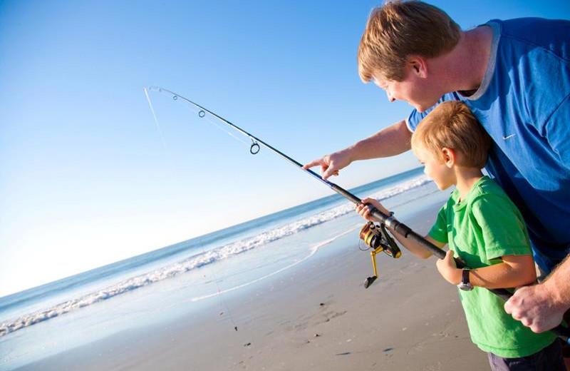 Fishing on the Beach at SeaCrest Oceanfront Resort