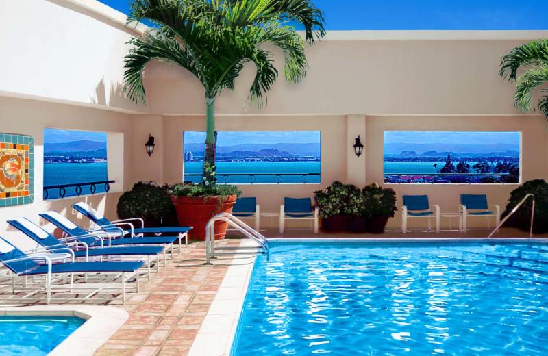 Outdoor pool at Sheraton Old San Juan Hotel & Casino.