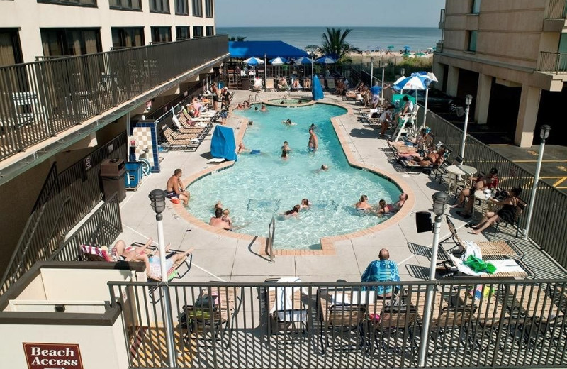 Outdoor pool at Clarion Resort Fontainebleau.