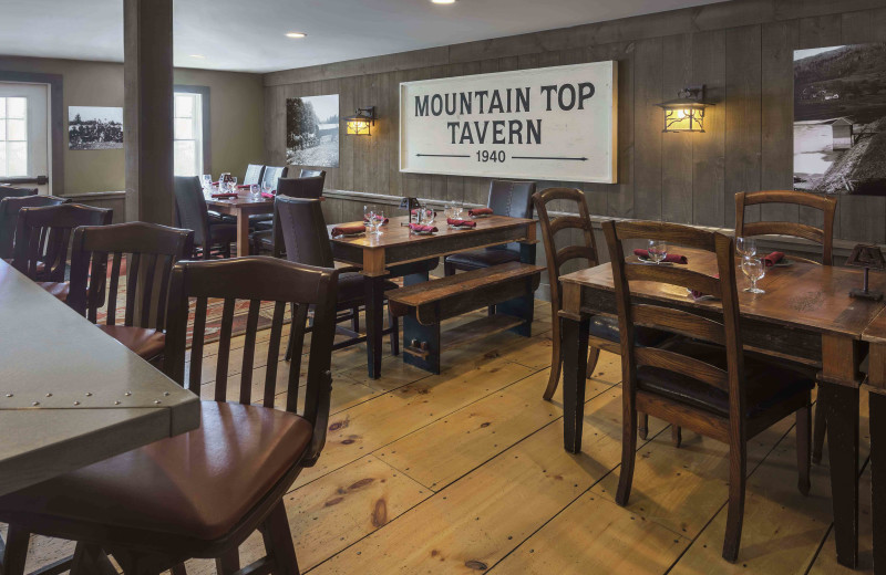 Delicious tavern Menu and 12 Vermont craft beers on tap at The Mountain Top Inn & Resort.