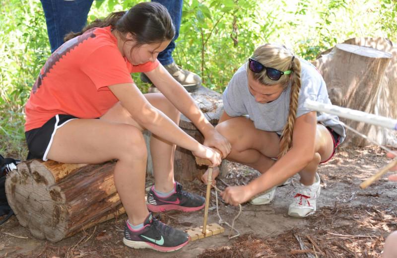 Survival skills at Camp Balcones Spring.