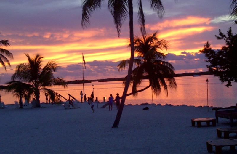 Sunset on the beach at Hampton Inn & Suites Islamorada.