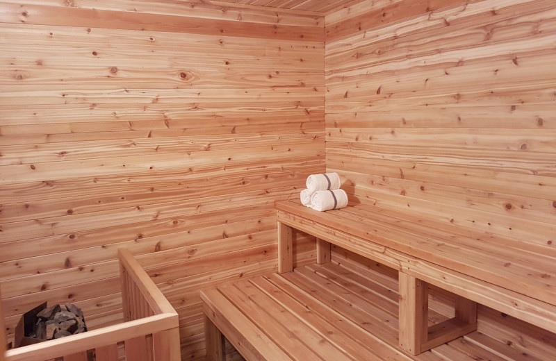 Sauna at Red Tree Lodge.
