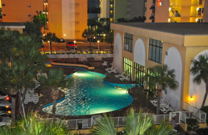 Night Pool View at Sea Mist Oceanfront Resort