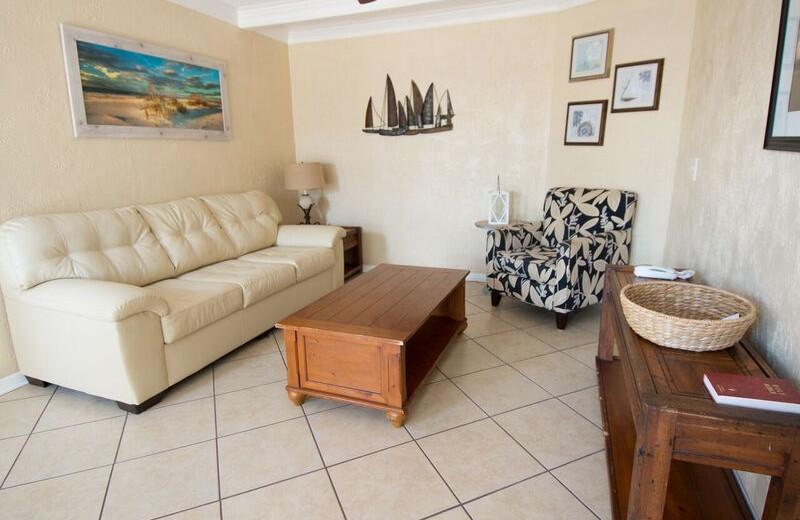 Guest living room at Anna Maria Island Inn.